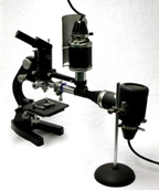 Leitz 1950 Large Universal Microscope  with inclined monocular and OPAK vertical illuminator